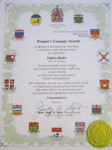 Woman's Courage Award
